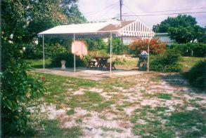 Backyard view at purchase